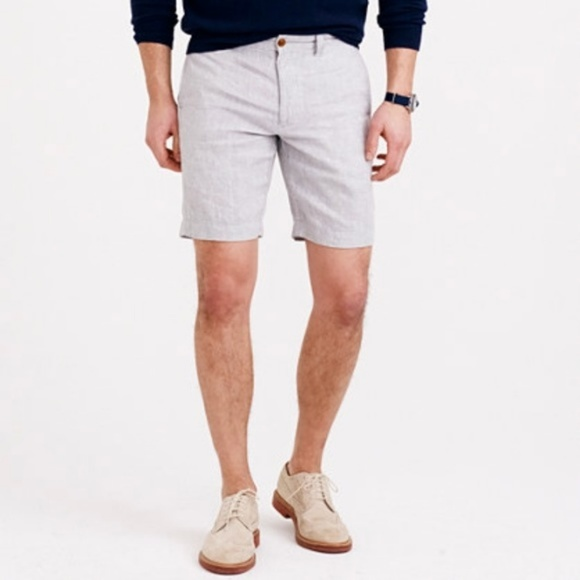 Vintage J Crew Mens Shorts Size 33 Waist Navy Blue Cotton Zipper Fly Pockets